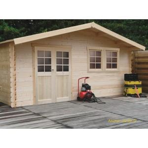 grand abri de jardin en bois 28mm vernier 26m porte double solid pas cher achat