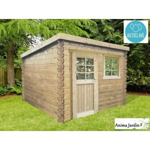 abri de jardin en bois autoclave 28mm nevers 5m 1 portes toit monopente solid pas cher achat