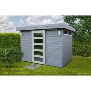 abri de jardin en bois 19 mm lund toit plat 4 85m solid pas cher achat vente