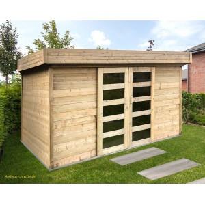 abri de jardin 28mm moderne toit plat stockholm solid achat pas cher