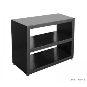 meuble large en acier plan de travail noir 100 cm surface de preparation quoco fargau achat pas cher