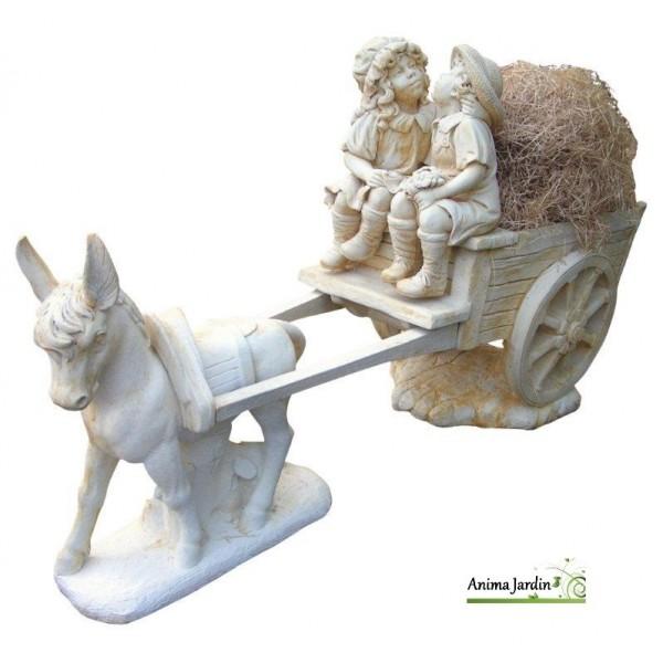 Statue En Pierre Reconstitue Calche Aux Enfants Ne