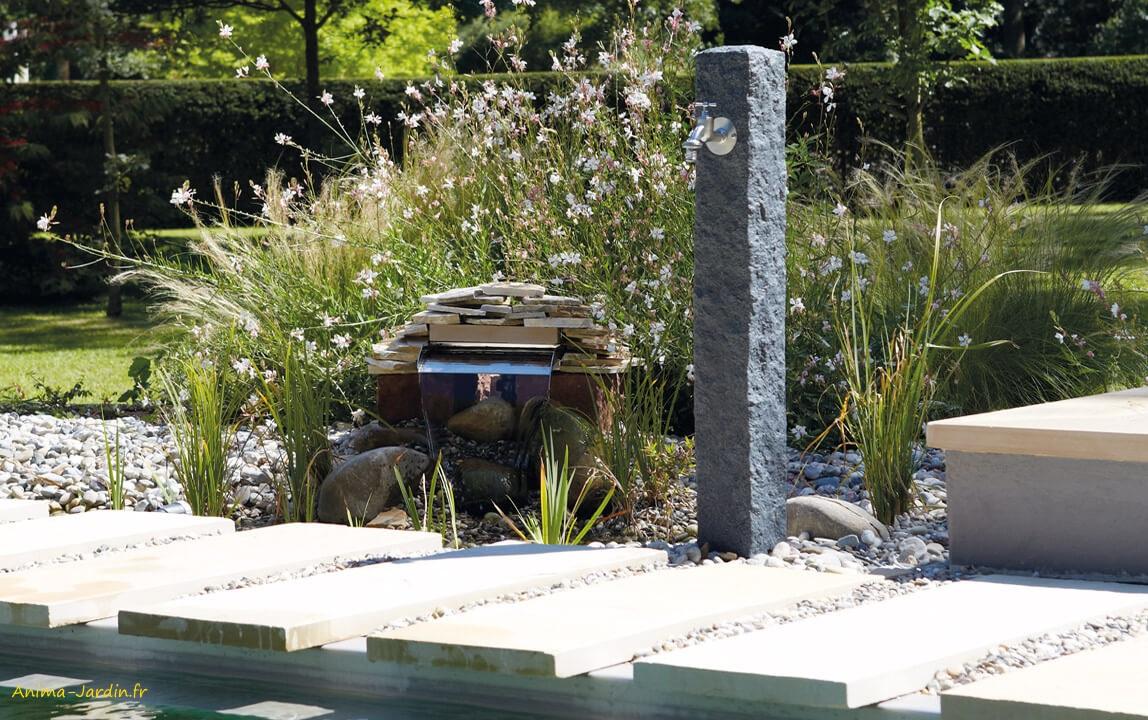 jardin imitation pierre granit point