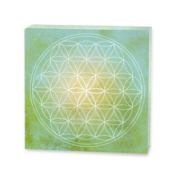 Blume des Lebens 3d, acrylglas, leuchtkraft, grün, grüne farbe, dekogegenstand,