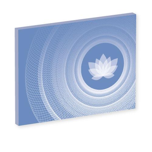 Wandbild like yoga, Lebendigkeit und Klarheit, blau und weiss, Harmonisierung vom Mensch und Raum, Seelenwellness, Leinwandbild, Feng Shui Norden, Leinwandbild, wanddeko, yogastudio, bilder für das yogastudio