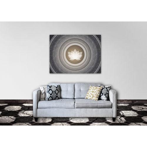 Mandala, Mandala Art Work, schwarz, grau und erdtöne, Bild, Feng Shui Bild Nordosten, Südosten, Harmonie, Olivgrün, online bilder bestellen. leinwandbild, lotus, meditation, wanddeko, pink, weiss, modernes Bild