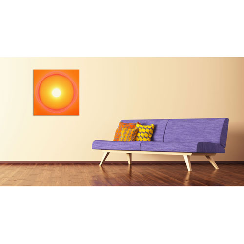 Sonnenlicht, Sonnenenergie, Lebenskraft, Sonne, Gelb, Orange, Wärme, Süden, Leinwandbild, Wandbild, Wohndeko