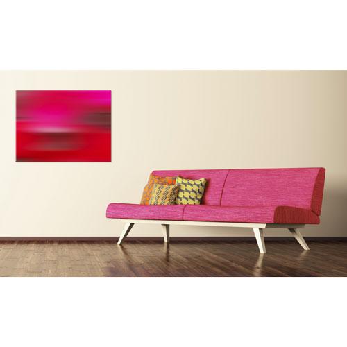 wandbild Passion, wandbild in rottöne, rot, farbe rot, pink, abstraktes wandbild, wanddeko, leinwandbild, feng shui bild süden,
