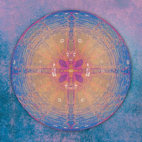 Wandbild Geheimnis, wandbilder online kaufen, blau, violett, geheimnis, Geheimnisvoll, Mystisch, symmetrisch, wandbild, abstrakt, beruhigend, Feng Shui Norden, Energie des Kreises, Feng Shui, Leinwandbild, ausserirdische zeichen