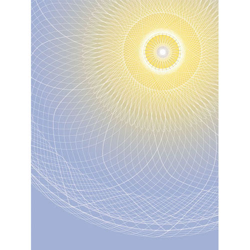 mandala art work, Wandbild Lichtstrahl, Wanddesign,Mandala mit Lichtkern, Blau und gelb, seelenwellness, Wanddesign, tapete, schöner wohnen, Feng shui , Leinwandbilder, Leinwandbild, yoga nidra