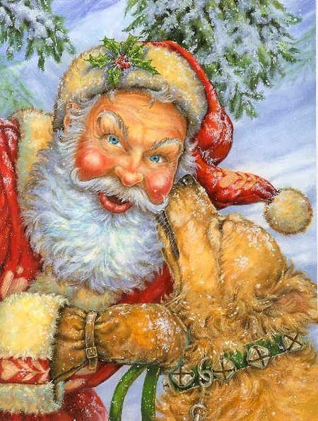 kerstman met hond
