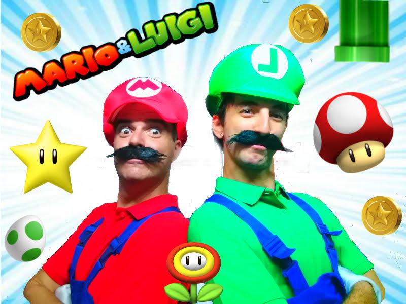 Animación infantil con Mario Bros y Luigi