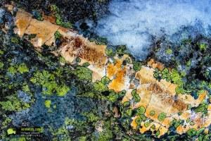 Lingas, Texture de rocher