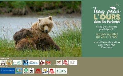 Télémanifestez pour l'ours samedi 4 juillet entre 9h et 11H