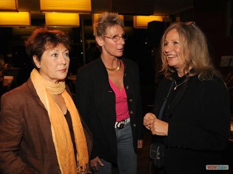 Trixi Schuba, Dany Sigel mit Organisatorin Brigitte Martzak