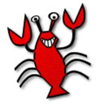 Web Graphic Clipart of a Smiling Lobster. Click Here to Get Free Images at Animal Clipart.net