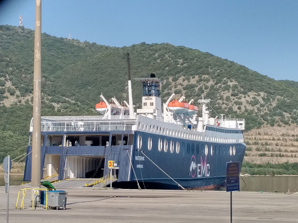 Our comfortable ferry, the Vastervic