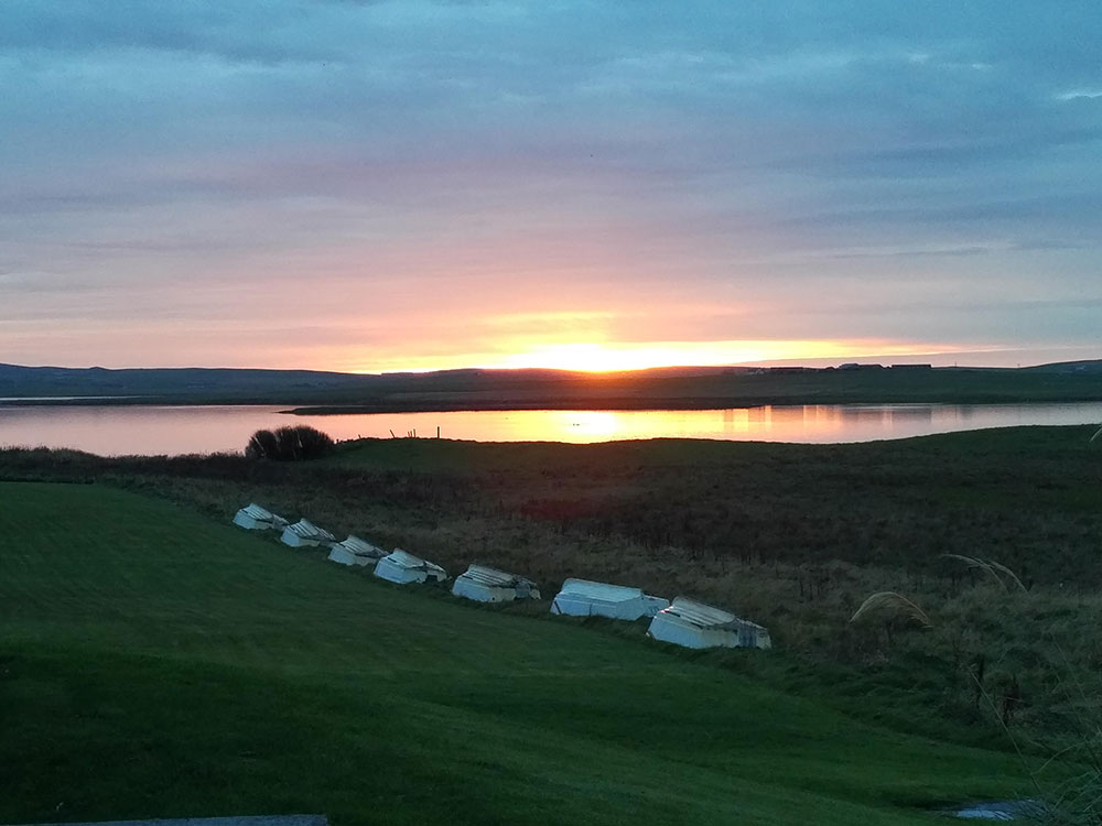 Sunset over Loch Harray, Orkney