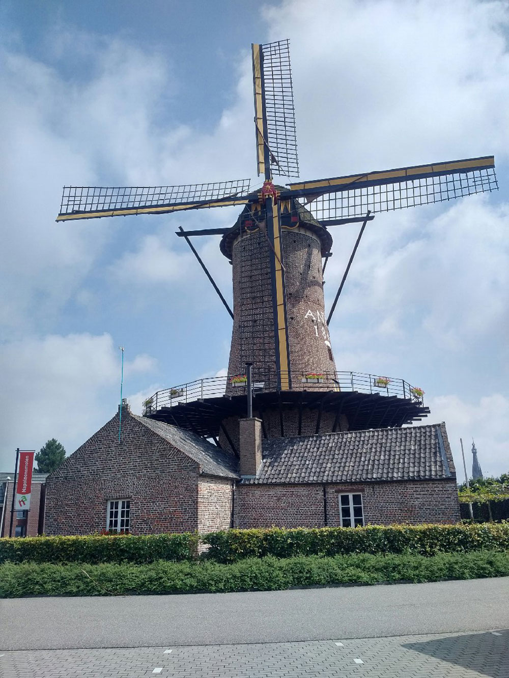 A rather superior windmill spotted on the drive through the Netherlands