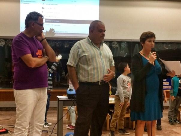 Daniel Martín, Juan Carlos Saavedra, Sandra Franco