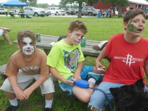 3 kids face painting