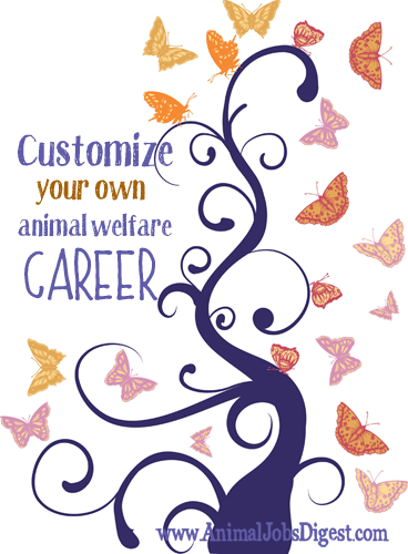 Tree with butterflies - customize your own animal welfare career