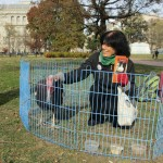 "Karen Davis,  ""defense attorney"" for all turkeys,  visits the White House"