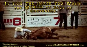 2015 Cheyenne Rodeo horse injury