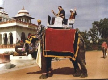Justices Scalia and Ruth Bader Ginsburg rode an elephant together in India in 1994.