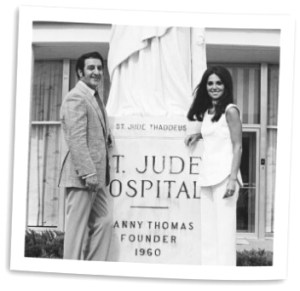 Danny Thomas, left, and Marlo Thomas, at opening of St. Jude Hospital in 1962.