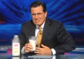 Stephen Colbert enjoyed the West Virginia raw milk debacle.