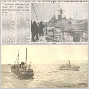 Scenes from the Cod Wars, in which the U.K. flexed military muscle but lost the disputes over fishing rights. (Wkipedia photos)