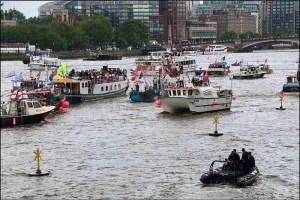 Thames trawler flotilla. (Flickr photo)