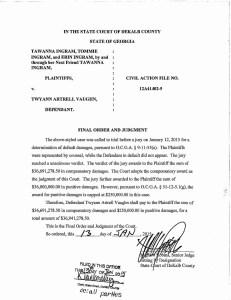 $36 million pit bull attack judgment