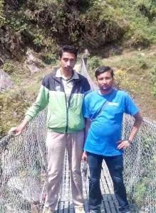 "Nepal Animal Welfare & Research Center founder G.P. ""Uttam"" Dahal (left) and Himalayan Animal Rescue Trust veterinary technician Narayan Dhakal."