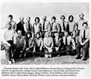 Channel Islands National Park staff circa 1981.