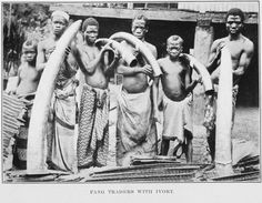 Ivory traders in 1912.