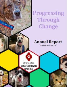 The 2014 San Antonio Animal Care Services annual report barely mentions public safety.