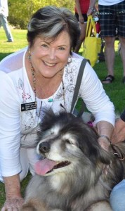 Rep. Sherry Appleton poses with a dog on her Facebook page––but not a pit bull.