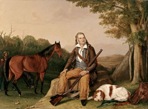 John James Audubon, painted at Minnie's Land in 1841 by John Woodhouse Audubon and Victor Audubon for Lewis Morris. (American Museum of Natural History image)