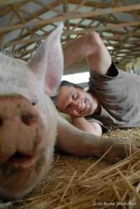 Baur with pig