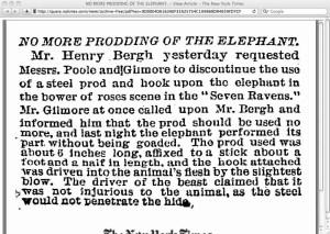 Bergh, elephant,  1884