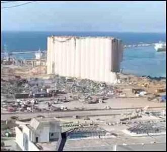 Blast damage in Beirut