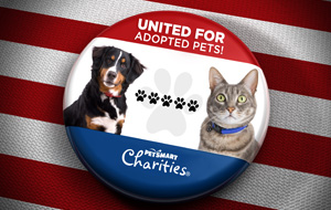 Button cat and dog pet smart charities
