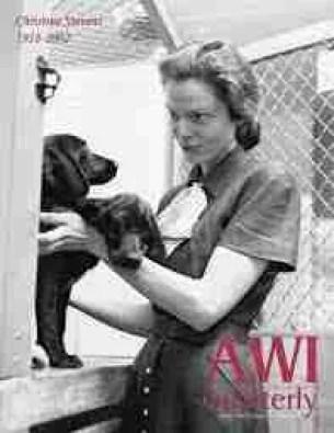 Animal Welfare Institute founder Christine Stevens circa 1952. (AWI photo)
