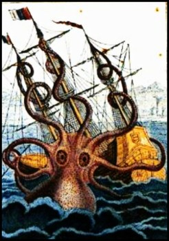 Colossal Octopus Pierre Denys de Montfort, 1801
