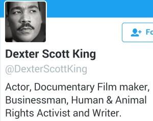 Dexter Scott King's Twitter page.