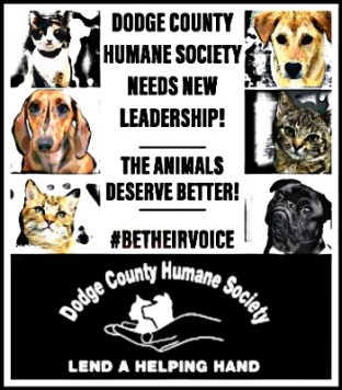 Dodge County Humane Society poster Be their Voice