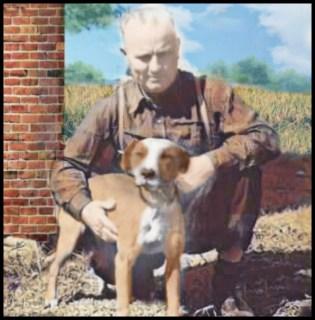 Earl Tudor and pit bull