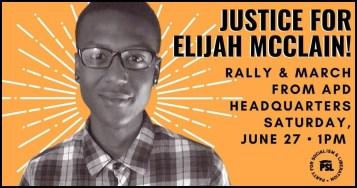 Elijah McClain vigil poster